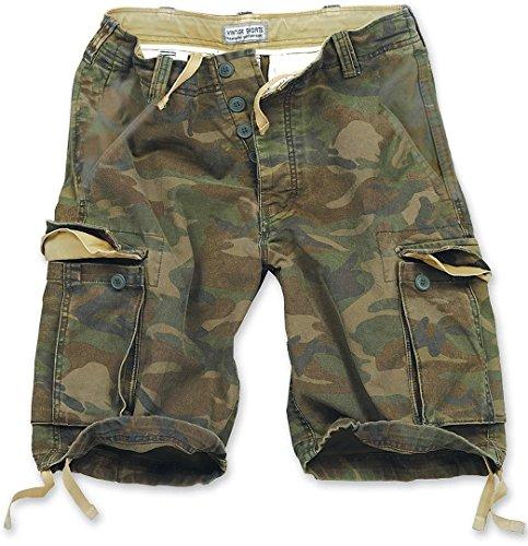 Surplus Vintage Herren Cargo Shorts, woodland, Größe XXL - Surplus Camo