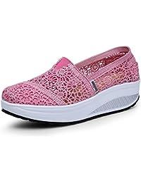 Sneakers rosa con stringhe per donna Primtex