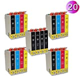 AA+inks 20x Druckerpatronen T1285 T1281 T1282 T1283 T1284 Kompatibel zu Epson Stylus Office BX305F BX305FW S22 SX 125 130 230 235 235W 420 420W 425 425W 435 435W 440 440W 445 445W Tintenpatronen (20PK)
