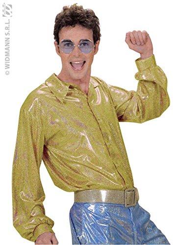 ogramm-Disco-HemdinGold–Größe M/L (70-kostüm Ideen Für Männer)