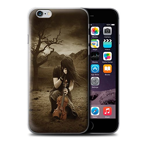 Officiel Elena Dudina Coque / Etui pour Apple iPhone 6+/Plus 5.5 / Violoncelle/Nuages Design / Réconfort Musique Collection Abandonné