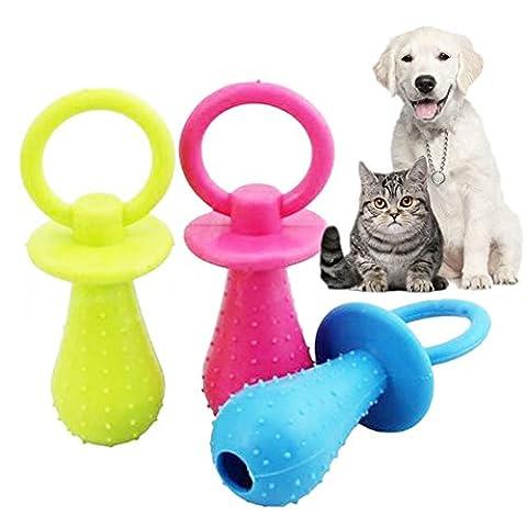 misterolina Langlebige Pet Dog Puppy Chew Zähne Spielzeug Weiche kleine Gummi Schnuller