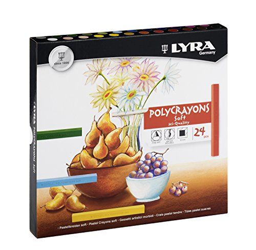 Lyra 5651240 Polycrayons Pastellkreiden, farbig sortiert, 17,4 x 16,2 x 2,2 cm