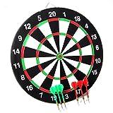 Wettkampf Dart-Scheibe-Board Dartboard Dartscheibe + 6 Dartpfeile Pfeile