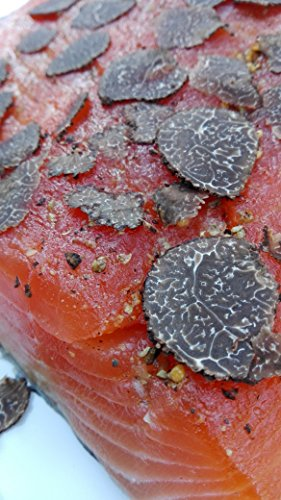 Lachs gebeizt (Graved) mit Périgord-Trüffel (25 g) 1.1kg ✔ Traditionell und Qualitativ hochwertig ✔ Mild im Geschmack