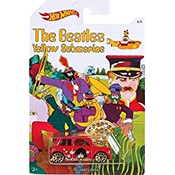 MORRIS MINI 2016 Hot Wheels THE BEATLES 50th Anniversary YELLOW SUBMARINE Red Mini Cooper 1:64 Scale Collectible Die Cast Metal Toy Car Model 4/6 by California