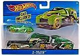 #9: Hot Wheels - 2017 X-Trayn Hauler with Car Included (Green)