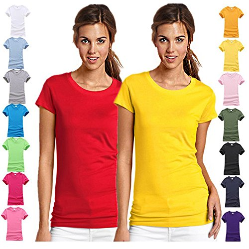 ROCKBERRY Women Ladies Cotton Casual Premium Soft T Shirt