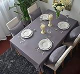 Graue Baumwolltischdecke, 140X250CM für Home Hotel Café Restaurant, Hitze und Feuchtigkeitsresistent