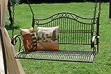 DanDiBo Hängebank Metall Garten 82505 Schaukel mit Ketten Gartenschaukel Bank Hollywoodschaukel Schaukelbank