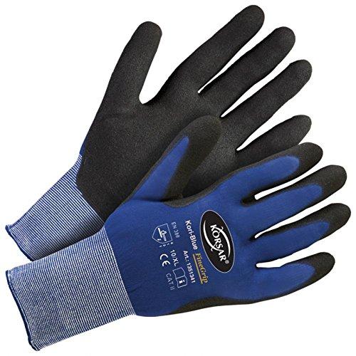 Montagehandschuhe Transporthandschuhe Kori-Blue FineGrip blau-schwarz - Größe 9