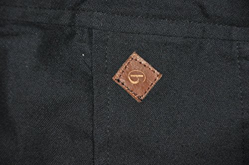 Pantaloni alla turca con taglio alto e bretelle come vestiti alternativi di virblatt e pantaloni cavallo basso �?Agil Nero