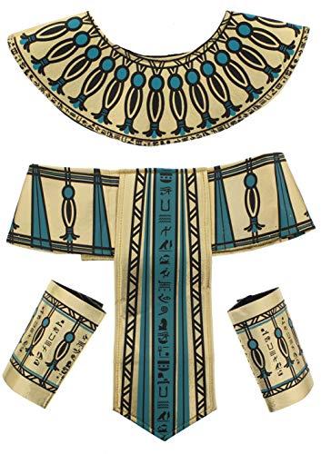 Minute Last Herren Kostüm - Zac's Alter Ego®® - Kleopatra-Set für Verkleidungen im ägyptischen Stil