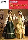 Simplicity 3809 D - Patrones de costura para disfraces renacentistas de mujer