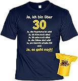Lustiges T-Shirt zum 30. Geburtstag für das Geburtstagskind über 30 Jahre mit Gratis Mini-Shirt Set 30 Geburtstag Geschenk 30 Jahre