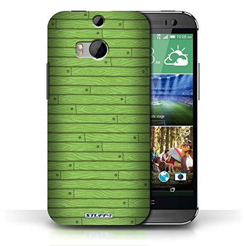 Kobalt® Imprimé Etui / Coque pour HTC One/1 M8 / Vert conception / Série Motif Bois Vert