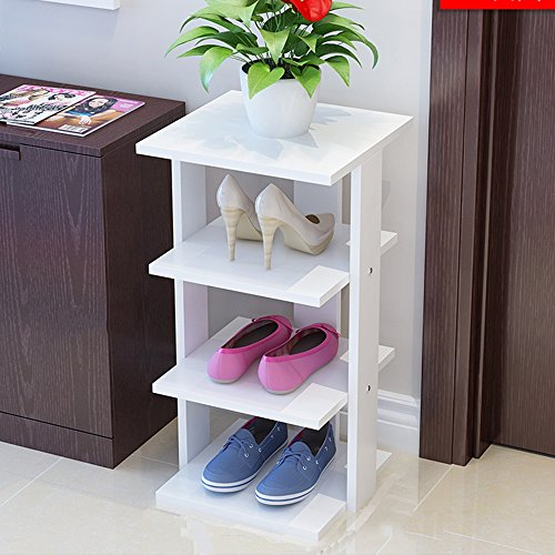 Porte-chaussures en bois massif maison simple petite chaussure rack poussière chaussure rack blanc chaussures rack de stockage ( Couleur : A , taille : 80cm )