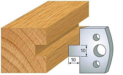 091 Profilmesser-Set für Nut und Feder 10mm für Messerkopf Abstand 24mm 2-teilig