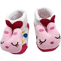 Baby Socken Winter,Covermason Säugling Kleinkind Baby Junge Mädchen Socken Baumwolle Cartoon Tiere Anti-Rutsch Gestrickt Warm Babysocken Slipper Schuhe Stiefel