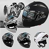 Yosoo Casco Helmets integrale da moto con Doppia Visiera, Integrale Visiera di protezione (XL, Matte nero)