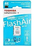 Toshiba - Scheda di memoria SD FlashAir con chip wireless LAN integrato, classe 10, capacità 8 GB