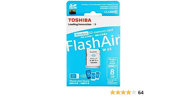 Toshiba Flash Air 8gb Class 10 Wireless Memory Card Camera Photo
