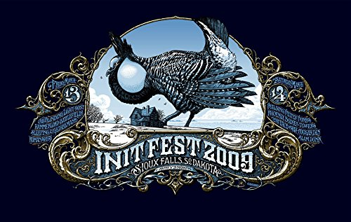 01b0dbe36 Init Fest 2009 Limited Edition Silk Screen Print Music Poster by Aaron  Horkey Original Signed and