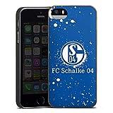 DeinDesign Holz Hülle kompatibel mit Apple iPhone 5 Wooden Case Echtholz Handyhülle FC Schalke 04 S04 Offizielles Lizenzprodukt