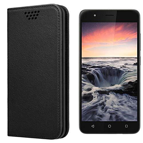 UltraProtection Schutztasche für Gigaset GS270 Plus Tasche, Schutz-Hülle, Handytasche, Wallet Cover Case, Handy Etui in Schwarz