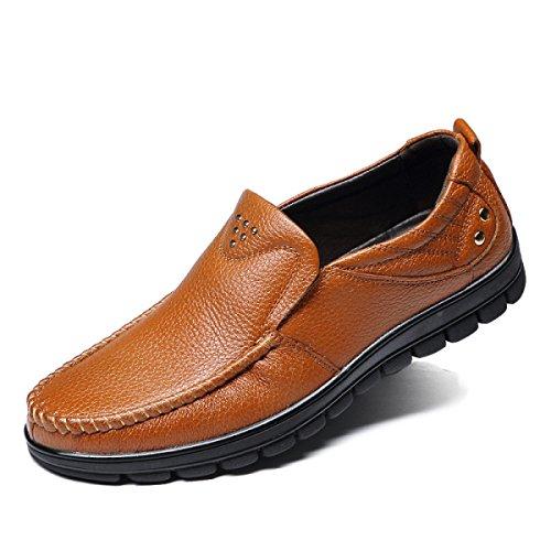 Chaussures Pour Hommes Nouveau Père D'âge Moyen Affaires Loisirs Chaussures Souples Fond Jaune