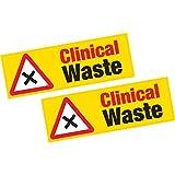2x clinica rifiuti adesivi in vinile Hazard salute e sicurezza Shop Business