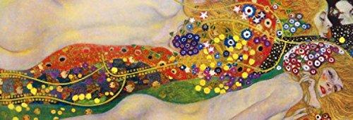 1art1 60828 Gustav Klimt - Wasserschlangen II, 1904-1907 Poster Kunstdruck 91 x 30 cm