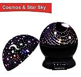 MKPower Nachtlicht mit Mond-Sterne und Galaxie-Abdeckung, Lila