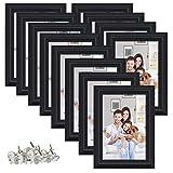 PETAFLOP Cadre Photo 10 x 15 cm Cadre Décoration Mariage Lot de 12 Cadres Noir
