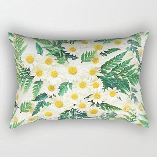 tessuto vintage daisy e Felce Pattern Cuscino