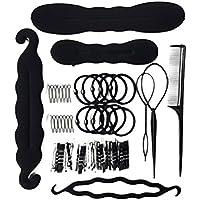 Lurrose Kit de Peinado para el cabello Peinado Magic Hair Clip Designs Foam Sponge Bun Donut Horquillas para el cabello Diseño de clip para accesorios para el cabello Herramientas