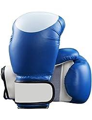guantes de boxeo de algodón de verdadero corazón/ saco de boxeo Guantes para adultos/Guantes de agarre del entrenamiento de boxeo de los niños/ Bo golpeó los guantes para hombres y mujeres-azul