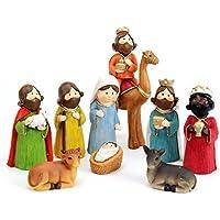 Juguetes Industriales S.A. Belén de Navidad Moderno Resina para Decoración Navideña Christmas - LOLAhome