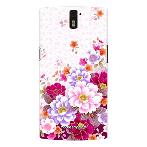 homesogood-drybrush-floral-pattern-multicolor-3d-mobile-case-for-oneplus-one-back-cover