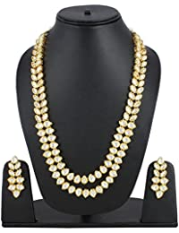 Shining Diva Fashion Stylish Party Wedding Wear Kundan Traditional Necklace Set For Women Jewellery Set With Earrings...