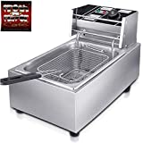FROTH & FLAVOR Stainless Steel Electric Deep Fryer (Silver) 6 Litre with Copper Element