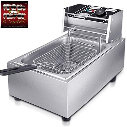 FROTH & FLAVOR Stainless Steel Electric Deep Fryer (Silver) 8 Litre with Copper Element