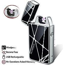 Antivento Accendino, Starcook USB Ricaricabile Doppia Elettrico Arco Sigaretta Accendino Antivento Senza Gas Senza Fiamma