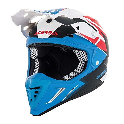 Casco moto Cross/Enduro Acerbis Profile 3.0 Snapdragon XL BIANCO-BLU