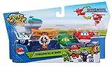 Super Wings Series 1 Transform-a-bots 4 Pack - Jett, Mira, Paul & Grand Albert