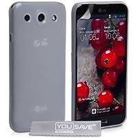 Yousave Accessories Silikon Gel Schutzhülle für LG Optimus G Pro–Transparent