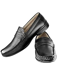 Tapps Men's Genuine Leather Formal Shoes Slip on