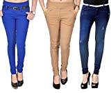 Zrestha Blue And Skin Jegging With Blue ...