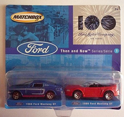 Matchbox 2002 Ford/100 Years 2-pack Series 1 - 1968 Ford Mustang GT & 1999 Ford Mustang GT by Mattel