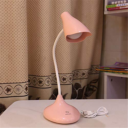 RZJF Third Gear Dimming Tischlampe, USB-Ladelampe, Augenschutzlampe Pink Speaker 35Cm * 2Cm